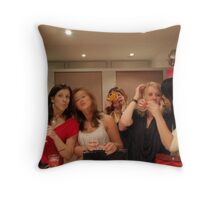 girls nite out Throw Pillow