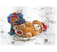 Ooops! Teddy Bears take a fall Poster