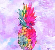 Bright Neon Hawaiian Pineapple Tropical by GirlyTrend