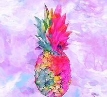 Bright Neon Hawaiian Pineapple Tropical by GirlyTrend