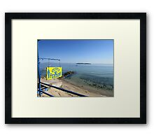 THE POTTER ON THE BEACH. Framed Print