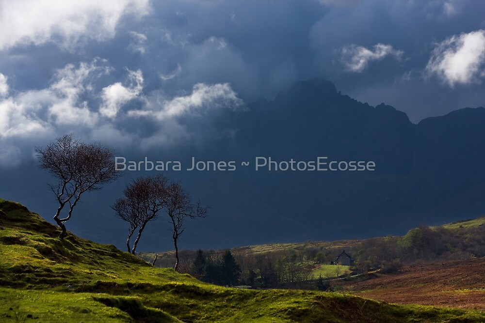 Storm brewing on the heights of Blaven, Isle of Skye. Scotland. by photosecosse /barbara jones