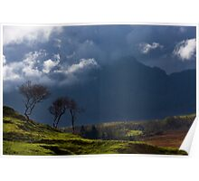 Storm brewing on the heights of Blaven, Isle of Skye. Scotland. Poster