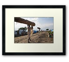Refugee Camp, South Sudan Framed Print