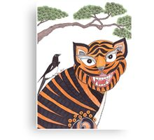 The Tiger and the Magpie Canvas Print