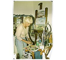 Portrait of An Artist in Her Studio. Poster