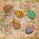 Easter Eggs. Oil monotypes. by Svetlana Mikhalevich