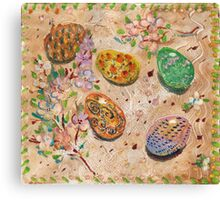 Easter Eggs. Oil monotypes. Canvas Print