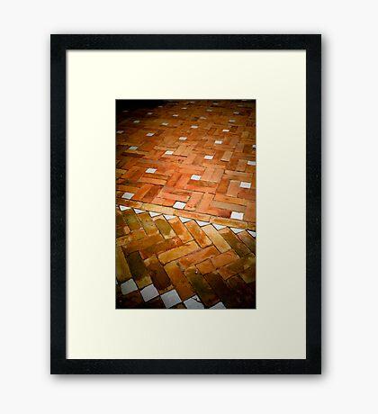 Riad floor, Marrakech Framed Print