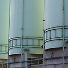 blue-green silos by fabio piretti