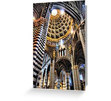 Siena Cathedral. Interior Greeting Card