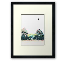 Mr Person goes for a stroll Framed Print
