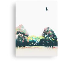 Mr Person goes for a stroll Canvas Print