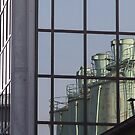 reflected silos by fabio piretti