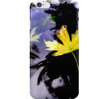 Leaves, Water, Reflection iPhone Case/Skin