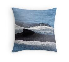 two whales Throw Pillow