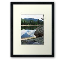 Hikers view Framed Print