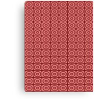 Red Circles Pattern Canvas Print