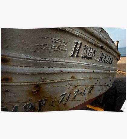 Barca en Cabo de Gata Poster
