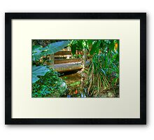 Pond & Footbridge2 (HDR) Framed Print