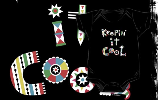 Keep'n It Cool - on dark by Andi Bird