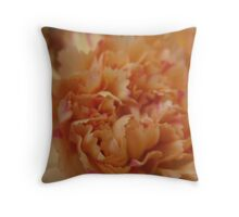 Marmalade Carnation Throw Pillow