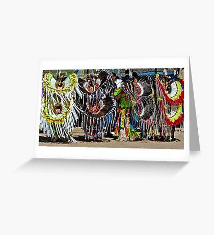 Fancy Dancer Line Up Greeting Card
