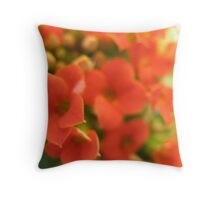 Tomato Cherry Red whipped Flowers Throw Pillow