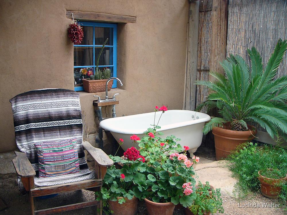 Bathtub on the Porch by Lucinda Walter
