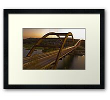 A 360 Bridge Sunset Framed Print