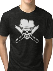 Chef skull Tri-blend T-Shirt