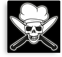 Chef skull Canvas Print