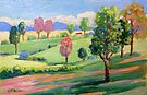 Tamborine Mountain Golf Course  by Virginia McGowan