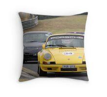 PORSCHE 911 RSR 3.6   Sandown  28-2-10 Throw Pillow