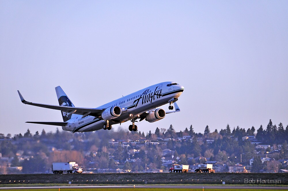 Alaska Airlines 737-800 by Bob Hortman