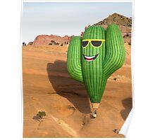 Saguaro at Red Rock Poster