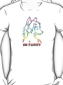 IM FURRY RAINBOW Anthro Fox Wolf Canine T-Shirt