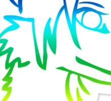 IM FURRY RAINBOW Anthro Fox Wolf Canine Sticker
