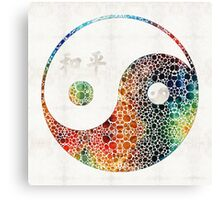 Yin And Yang - Colorful Peace - By Sharon Cummings Canvas Print