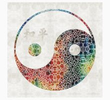 Yin And Yang - Colorful Peace - By Sharon Cummings Kids Tee