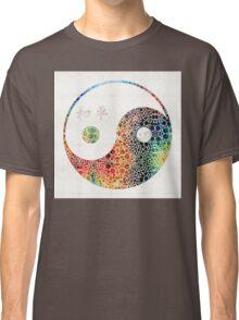 Yin And Yang - Colorful Peace - By Sharon Cummings Classic T-Shirt