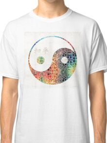 Yin And Yang - Colorful Peace - By Sharon Cummings Classic T-Shirt