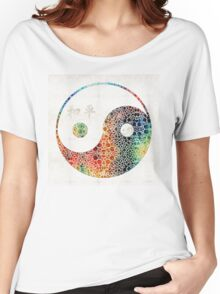 Yin And Yang - Colorful Peace - By Sharon Cummings Women's Relaxed Fit T-Shirt