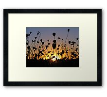 When the Day is Short Framed Print