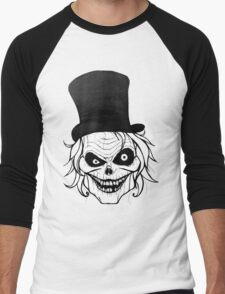 Hatbox Ghost Men's Baseball ¾ T-Shirt