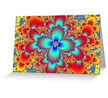 Floral Fractal Greeting Card
