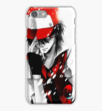 anime - pokemon - trainer red iPhone Case/Skin