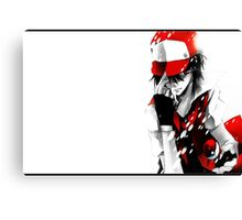 anime - pokemon - trainer red Canvas Print