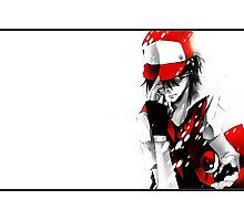 anime - pokemon - trainer red Photographic Print