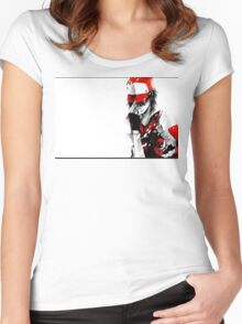 anime - pokemon - trainer red Women's Fitted Scoop T-Shirt